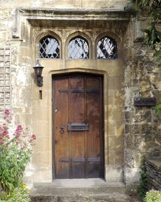 Beautiful Gothic Doorway, Burford, the Cotswolds