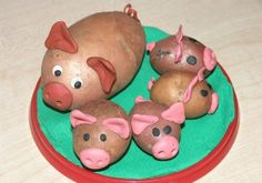 Картинки по запросу осенние поделки из овощей в детский сад