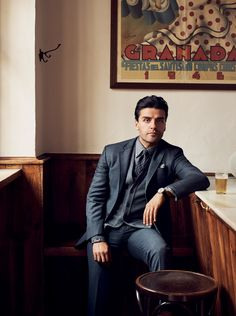 Actor Oscar Isaac in GQ.