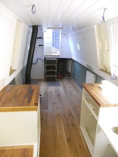 Harris & Watson Narrowboat Build: September 2012  I like the butcher block counters