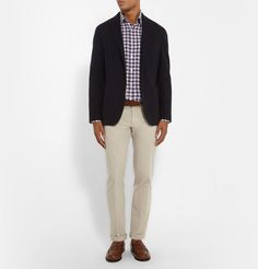 Canali - Slim-Fit Checked Linen Shirt