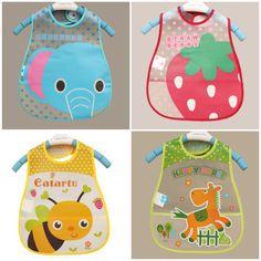 Bebé Baberos EVA Impermeable Almuerzo Patrón Baberos Paños Del Burp Baberos Niños Niñas Niños de Dibujos Animados Para Los Niños de Auto Cuidado De La Alimentación