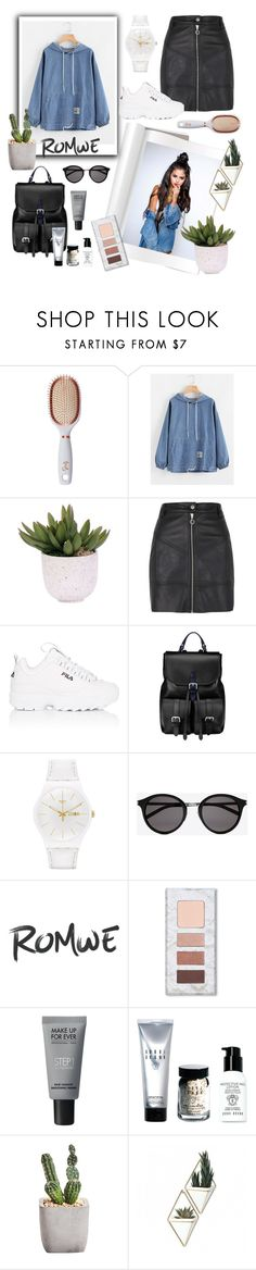 """Casual look"" by lukretiak ❤ liked on Polyvore featuring Goody, Lux-Art Silks, River Island, Fila, Aspinal of London, Swatch, Yves Saint Laurent, MAKE UP FOR EVER, Bobbi Brown Cosmetics and Umbra"