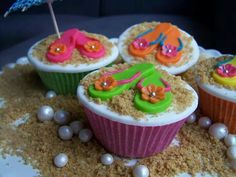 Flipflop cupcakes
