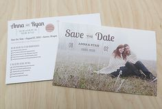 very awesome and detailed save the dates and invitations