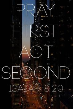 """Pray first and act later! Most of us are guilty of """"praying on the fly"""" - asking God what to do while we're in the process of doing it. It's awfully hard to hear God's voice when we're in a rush of activity. Even worse, most of us act first and pray later. Let's pray first, act later! 🙏 """"Trust in the LORD with all your heart and lean not on your own understanding; in all your ways submit to him, and he will make your paths straight"""" (Proverbs 3:5-6). """"Never stop praying"""" (1 Thessalonians…"""