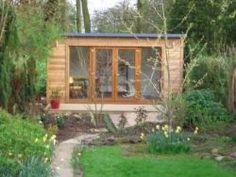 Garden Rooms From Oeco Offering a National Installation Service Garden Office, Gazebo, Outdoor Structures, Cabin, House Styles, Building, Summer, Rooms, Space