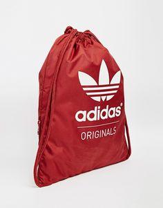 adidas Originals Gymsack in Burgundy Types Of Bag, Adidas Originals,  Satchel, Fashion Online e1440e4ef6