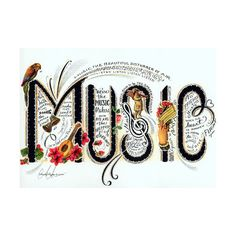 Music.jpg ❤ liked on Polyvore featuring music, words, quotes, text, fillers, phrase and saying