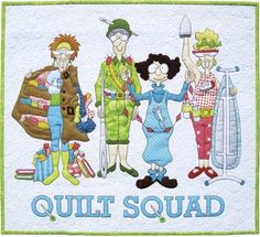 Quilt Squad Quilt Kit: The Quilt Squad designed by Amy Bradley is a wall hanging we can all relate to! Are you the Fabric Stasher, the Needler, the Chain Piecer, or the Perfect Presser?