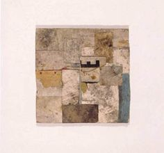 Robert Nickle's collages evoke the passage of time and the present's ambiguity; they forshadow future disintegration.  By locking paper detrius-soiled, crumpled, cracked, folded, marked, printed, stained and decaying tags, wrappers, cardboards, foils, etc. - in a poetic time capsule, Nickle shows us where we've been, are, and by progression, what the future holds.  These emotive, romantic, ecological layers are as much a part of Nickle's pristine collages as the diverse layers of paper he…