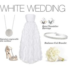 Stella and dot White Wedding by jodylprice on Polyvore featuring White House Black Market, INC International Concepts and Stella & Dot