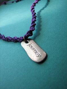 Purple Hemp Journey Pendant Necklace by QuirkStitch on Etsy, $12.00    etsy.com/shop/quirkstitch  #purple #hemp #necklace #journey
