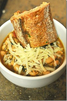 White Bean Vegetarian Soup-- perfect for cold winter nights!