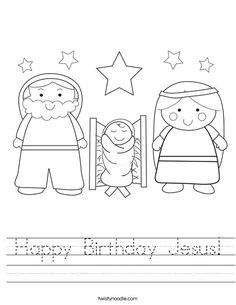 Happy Birthday Jesus Worksheet - Twisty Noodle