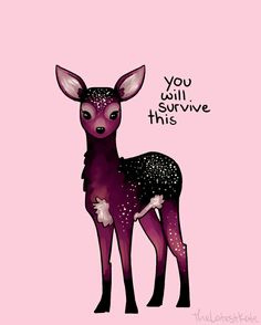 'Galaxy Sparkle Fawn' Poster by thelatestkate Galaxie-Schein-Kitz-Plakat Cute Animal Quotes, Cute Quotes, Cute Animals, Fox Quotes, Kawaii Quotes, Peace Quotes, Cute Drawings, Animal Drawings, Kawaii Drawings