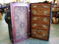 Very OLD steamer/ closet trunk