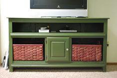 Repurposed dresser to tv stand