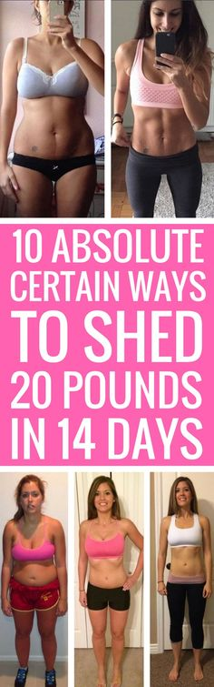 10 ways to lose 20 pounds for good.