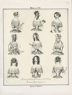 Casey Fashion Plates Detail | Los Angeles Public Library World of Fashion Date:  Sunday, February 1, 1846