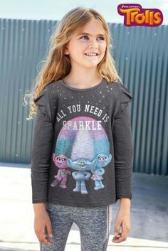b6b22f06a Graphic Sweatshirt, T Shirt, Girls, Troll, Sweatshirts, Sweaters, Little  Girls