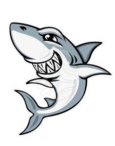 Cartoon shark mascot - clipart #