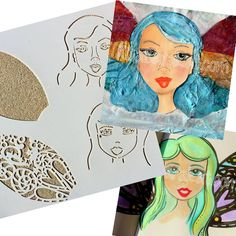 So excited for My First Fairy Stencil by RitaBarakat on Etsy Limited edition 12x12 stencil to create girls or fairies!
