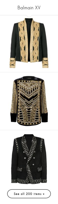 """""""Balmain XV"""" by bianca-cazacu ❤ liked on Polyvore featuring men's fashion, men's clothing, men's outerwear, men's jackets, black, mens collarless jacket, mens leather jackets, men's embroidered bomber jacket, mens collarless leather jacket and balmain mens jacket"""