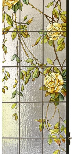 Stained Glass Roses Window Panel... Витражи