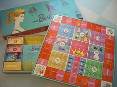 Vintage Barbie Game!  @Linda Lohmeier  Didn't you have this game?  Or was it Annette?