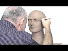 Alexander Cherkov demonstrates male head sculpture - step by step - YouTube