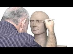 Alexander Cherkov demonstrates male head sculpture - step by step - YouTube