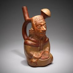 Moche, North coast, Peru  Vessel in the Form of a Courtly Musician, 100 B.C./A.D. 500