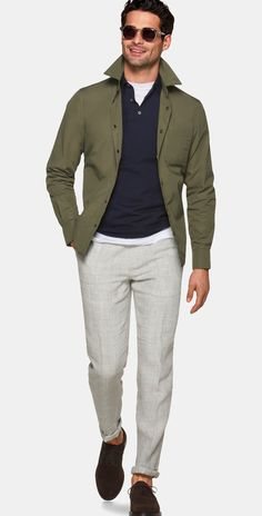 Nice style by Suitsupply Casual Chic Outfits, Outfit Jeans, Moda Casual, Menswear, Mens Fashion, Gothic Fashion, Pullover, Shirt Jacket, Jacket Men