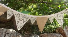 lace and burlap banner