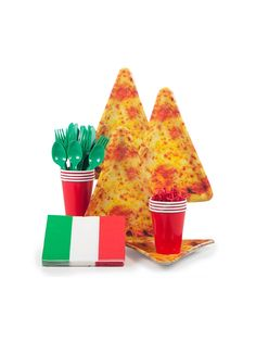 Pizza Party Standard Kit (Serves - Party and Birthday supplies at Wholesale prices Pizza Party Themes, Pizza Party Birthday, Birthday Box, Birthday Games, Birthday Parties, 50th Party, Birthday Party Decorations, Birthday Supplies, Party Supplies