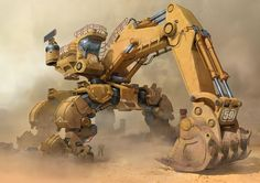 ArtStation - Excavator, YU YIMING: