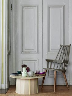 We love the grey and wood combination on this Kartell Comback Chair (http://www.nest.co.uk/product/kartell-comback-chair-with-wooden-legs)