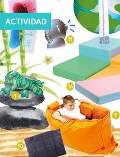 Una sala de juegos para relajarse. Relajación, espacio calma. TEA, TDAH