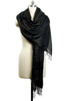 Metallic Stripes Black Wrap