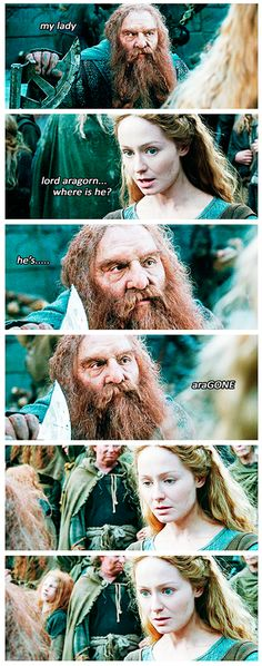 This is such a terrible pun. Why am I laughing?-Gimli, Lord of the Puns.