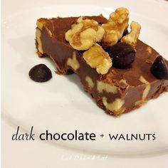 "Dark Chocolate + Walnuts classic fudge recipe from @Eat Drink Eat ""5 Days of Fudge"" series this week!"