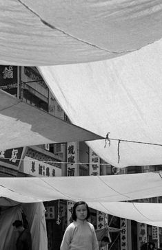 fan ho, white tent, 1960. from series living theater.
