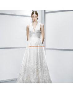 Schicke V-Ausschnitt A-linie Hochzeitskleider aus Tüll mit Applikation- Jesús Peiró