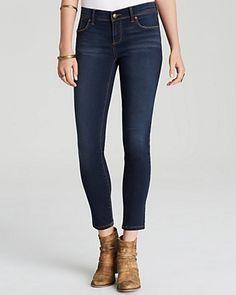 FREE PEOPLE Roller Crop Skinny Jeans In Ella Wash. #freepeople #cloth #wash
