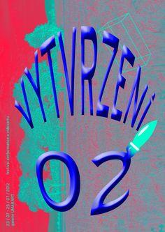 VYTVRZENI 02 - poster for Umakart Gallery - performance event