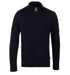 Barbour Holden Navy Half Zip Sweater