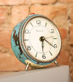 Vintage alarm clock from Etsy Vintage Alarm Clocks, Time Stood Still, Wings, Watches, Etsy, Clocks, Clock, Ali