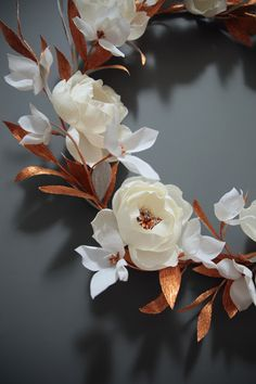 Hand crafted crepe paper flower wreath by Papetal, Christmas collection available at Paper2 boutique, Surrry Hills
