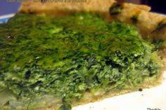 Recette Tarte aux oignons verts et épinards au brocciu corse, par Therbia - Ptitchef